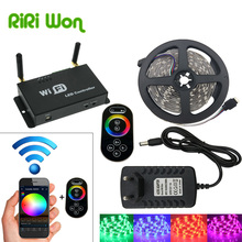 RiRi Won 5M Led Strip SMD 5050 Waterproof Flexible LED Light RGB 5050 LEDs Ribbon diode Tape DC 12V+Remote Controller+3A Power
