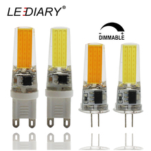 LEDIARY 5PCS Dimmable LED COB G4/G9 Bulb Light Real 2.8W Silica Gel 220V-240V Tube Dimmer COB Replace 30W Halogen bombillas LED