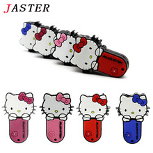 JASTER Slippers Pen Drive new style Cartoon hello kitty gift 4GB 8GB 16GB 32GB tom cat Usb Flash Drive Pendrive Free Shipping
