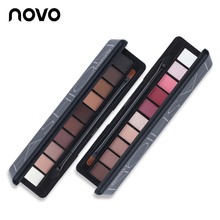 1PC NOVO Fashion Eye Makeup Eye Shadow Shimmer Matte Palette Natural Make Up Light 10 Colors Eyeshadow Cosmetics Set with Brush(China)