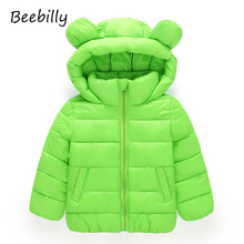 BEEBILLY Girls Winter Jackets Boys Cartoon Style Girl Fashion Outerwear Baby Girls Clothes Hooded Jacket for Girls Cotton Parkas(China)