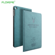 FLOVEME For Apple iPad Mini 1 2 3 4 Case Auto Sleep /Wake Up Flip PU Leather Cover Cases For iPad Air 2 1 Smart Stand Folio Case(China)