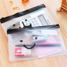 1PCS Travel Toiletry Bag Transparent Moustache Smile Office Cosmetic Make Up Pencil Bag Pouch Case