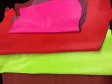 Genuine  Neon Red Goat Leather Material for Purse/Shoes/ Handbag ,Free Shipping