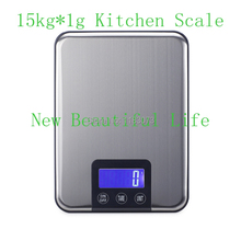 Buy 15KG 1g Digital Kitchen Scale 15kg Big Food Diet Weight Slim Stainless Steel Electronic Scales Touch Button Package for $13.97 in AliExpress store