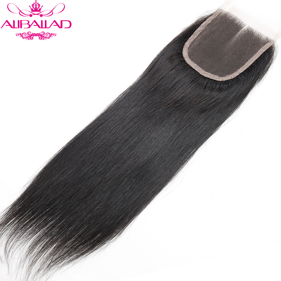 Aliballad Brazilian Straight Middle Part 4x4 Lace Closure 10-20 Inch Non-Remy Hair Natural Color 100% Human Hair Free Shipping2