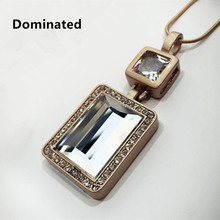 Dominated Women Pendant Necklaces All-match Temperament Crystal Perfume Necklace Pendant Female(China)
