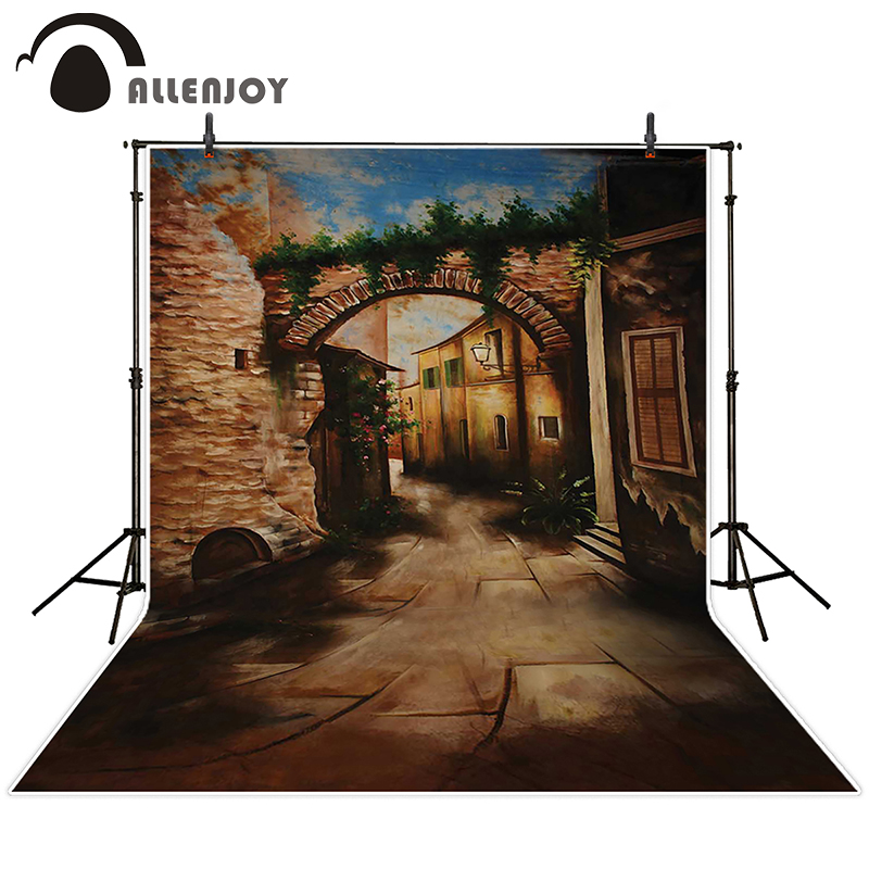 Allenjoy photographic background Street doorway Videos backdrops baby wedding props fabric 8x8<br><br>Aliexpress