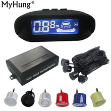 LCD Parking Sensors Display Monitor Rearview Car Parking Assistance Backup Radar System 4 sensors Reverse Radar(China)