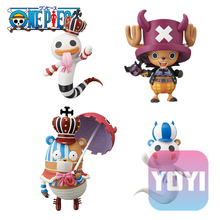 10cm 4pcs/lot Japanese anime figure one piece Halloween Gekko Moria/Perona/Tony Tony Chopper cosplay action figure set(China)