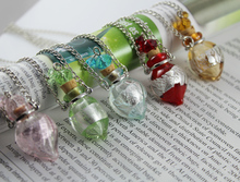 1Pcs Murano Glass Perfume Bottle Necklaces,Aroma bottle necklace,Frgrance necklace,perfume jewelry necklace
