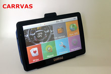 New CARRVAS 7 inch car GPS navigation, DDR 128 MB, 800Mhz CPU 4GB ROM, free 2016 Europe maps or Russia Navitel 9.1 maps