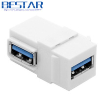 90 Degree Right Angled USB 3.0 angle A Female to A Female Extension Keystone Jack Coupler Adapter for Wall Plate Panel
