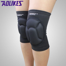 2017 NEW 1 Pair Thickening Football Volleyball Extreme Sports Knee Pads Brace Support Protect Cycling Knee Protector Kneepad(China)