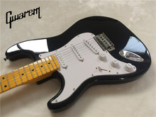 Electric guitar/Gwarem new st left hand guitar/black color/guitar in china(China)