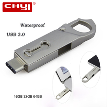 CHYI Hot sale OTG Type C USB 3.0 Flash Drive 16/32/64GB PC Tablet Smartphone USB Memory Stick Mini Pen Drive Gadget Double Plug