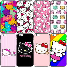 High quality Hard PC cute Hello kitty case for Apple iphone 6 6s 6plus 7 7plus 5 5S SE 5C 4S 4 Lovers phone case back cover capa