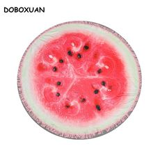 150CM Funny Fruits Watermelon Large Beach Towels With Tassels High Quality Microfiber Christmas Summer Bath Towels Yoga Cushion