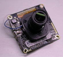 "IPC (720P@25FPS) 1/4"" CMOS H42 image sensor + Hi3518E-V200 CCTV IP camera module PCB board + 3.6mm LEN + IRC(China)"