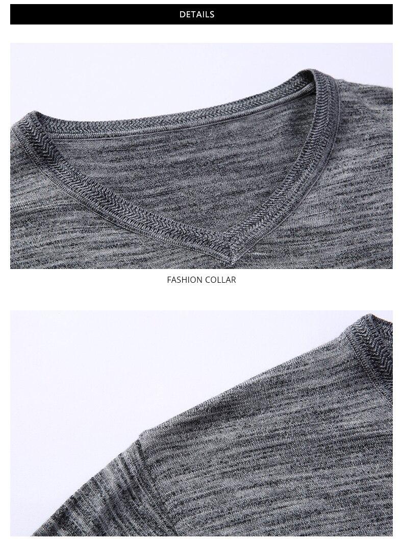 Compre 2018 Nueva Marca De Moda Suéter Para Hombre Jersey Slim Fit ...