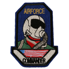 10pcs AIRFORCE COMMANDER Embroidered Patch Ironing Sew Applique Clothes Badge Stickers Jackets Shoes Bags DIY Decoration Patches
