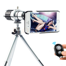 2017 New Camera Lentes Kit 12x Zoom Telescope Telephoto Lens For Samsung Galaxy S3 S4 S5 S6 S7 edge Plus Case Bluetooth control(China)