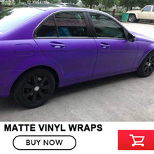 High performance price ratio Vinyl Wrap With Air Bubble Free Purple Matt Film Foil Car Wrap 1.52*20m(China)