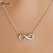 Charm Fashion Infinity 8 Leaf Cross Bird Pendant Necklaces Collares For Women Bijoux Clavicle Necklace Wedding Colar Jewelry(China)