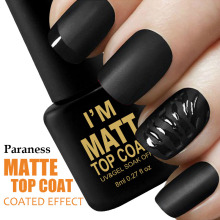 Paraness Matt Lacquer Top Coat UV LED Gel Varnish Clear Matte 8ml Gel Soak off Nail Polish Vernis Semi Permanent