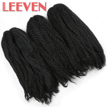Leeven 18'' 5PCS/lot Afro Kinky Twist Hair Crochet DIY Braids Hairstyle Synthetic Braiding Hair Extension High Temperature Fiber