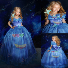 Newest Fashion Summer Cinderella Princess Girl's Dress Baby Cosplay Costume Brand Baby Formal Dress Children Party Dresses