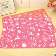Cartoon Silicone Hello Kitty Placemats For Table Waterproof Folding Dinnerwear Mat