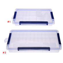 Detachable Rectangle Clear Plastic Storage Case Jewelry Beads Middle or Large Ring Compartment Storage Box(China)