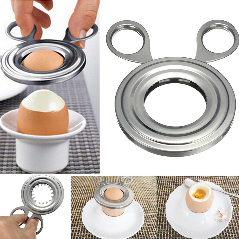Mayitr Egg Cutter Stainless Steel Boiled Egg Shell Topper Cutter Opener Kitchen scissor clipper Gadget Home Egg Tool