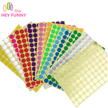 8 sheet 1.6cm Circle Round Color Coded Label Dot Sticker Inventory Code Tag 8 sheet Gold Silver 13 colors to chose 768 pcs(China)