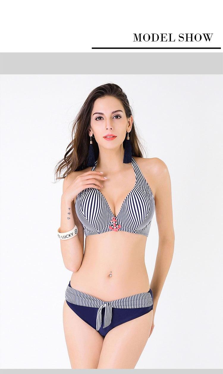 Top Brazilian Bikini 2017 Swimsuit Plus size Swimwear Women Two Piece Bathing Suit Push Up Swimming Suit Beach Bikinis Set Black<br><br>Aliexpress