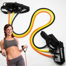 Tension Elastic Pilates Exercise Sport Workout Fitness Equipment Rubber Loop Stretch Expander Belt Pull Strap Resistance 120cm