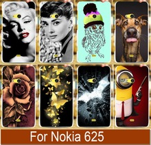 Creative Pattern Hot Model DIY mobile phone protective case hard Back cover Skin Shell for NOKIA 625 Phone case cases cover(China)