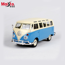 Maisto Volkswagen Bus T1 1:24 Scale Alloy Models Metal Vintage Classic Car Toys High Quality Alloy Collection Kids Toys Gift