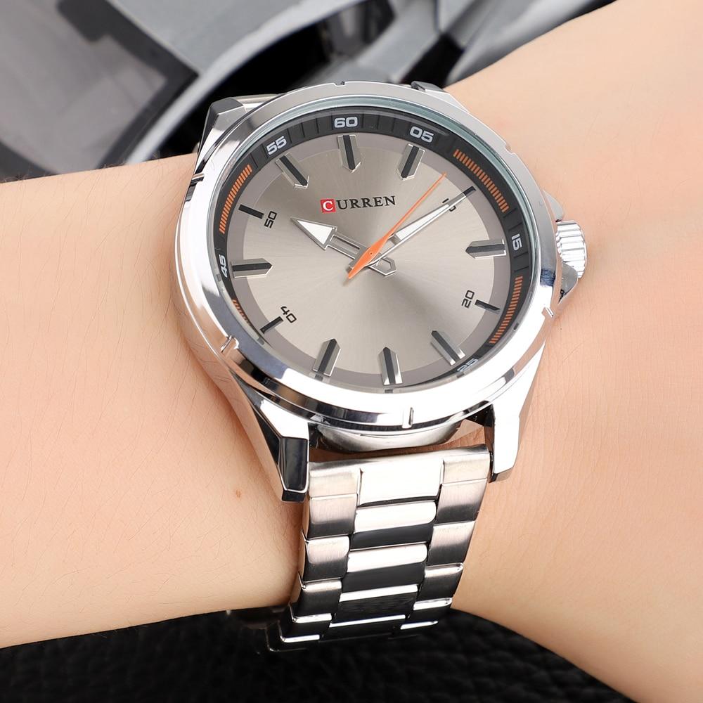 CURREN Fashion Men\\\'s Watch with Stainless Steel Strap Simple Creative Quartz Wristwatch for Men Clock erkek kol saati Waterproof 2019 (28)