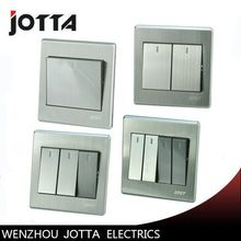Luxury Wall Switch Panel, Light Switch ,gang switch 2 Way Push Button Rocker Switch 16A,110~250V, 220V(China)