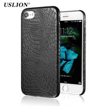 USLION Luxury Crocodile PU Leather Case For Apple iPhone 7 6 6s Plus Phone Cover Back Cases Capa Coque For iPhone7 Plus