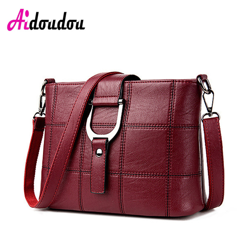 New 2016 Fashion European American Style Women Crossbody Bags Plaid Messenger Bags Famous Brand Soft Ladies Hand Bags