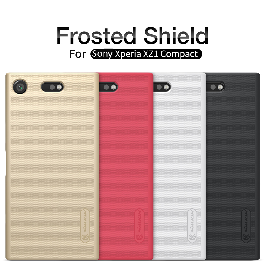 Wholesale 10pcs Sony Xperia XZ1 Compact Cover NILLKIN Hight Super Frosted Shield +Screen Protector