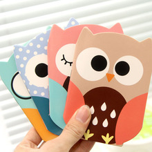Novelty Owl Cartoon Animals Mini Notebook Diary Pocket Notepad/shopping list book Promotional Gift Stationery(China)