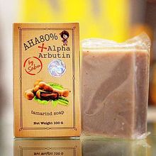 AHA 80% + ALPHA ARBUTIN WHITENING TAMARIND SOAP BAR SABU SKIN LIGHTENING 100G Free Shipping