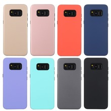 Case For Samsung Galaxy S5 S6 S7 S8 Plus edge Cover 2 in 1 Candy colorful Armor TPU+PC Soft ultra thin phone Casing funda coque
