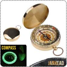 45mm Portable copper casing compass Luminous compass Direction of navigation Outdoor camping supplies