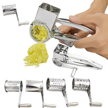 Cheese Chocolates Potato Radish Garlic Rotary Grater Stainless Steel Cooking Baking Tools Hot Sale