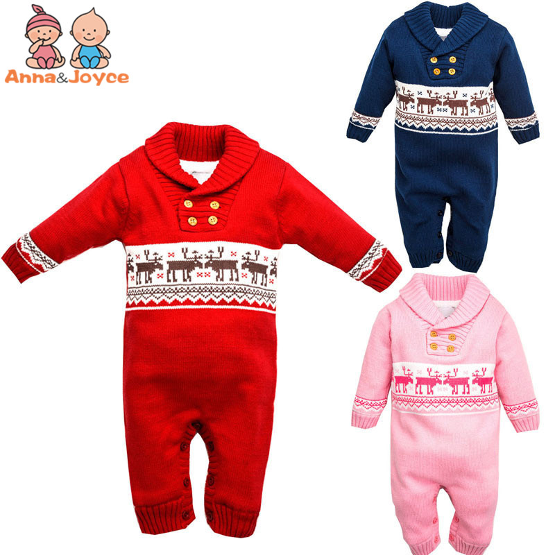 The New Baby Plus Thick Velvet Leotard Christmas Elk Cotton Soft Warm Christmas Classics<br><br>Aliexpress